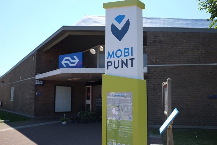 Mobipunt paal Den Helder Station